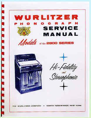 Wurlitzer 2800 Series Jukebox Service & Parts Manual