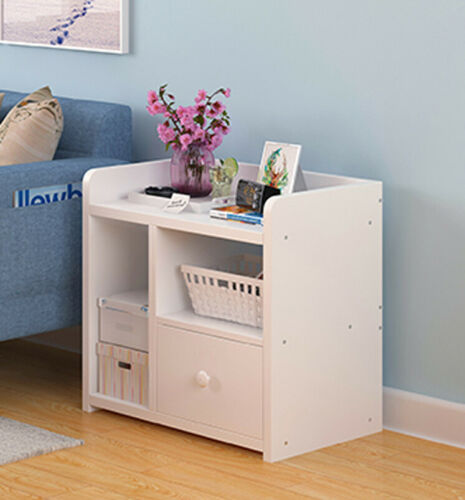 Details about Small Bedside Table Drawer Cabinet Bedroom Furniture Storage  Nightstand Xmas Gif