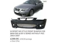 M5 style bumper for BMW e60 03 to 07
