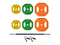 Bodypump set/barbell weights