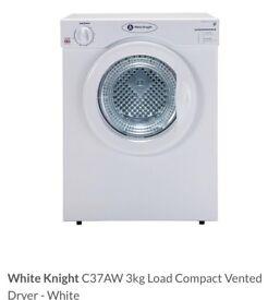 White knight C37AW tumble dryer