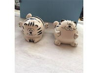 Cat salt & pepper pots (can post)