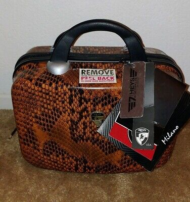 NEW! Heys Luggage Milano Hard Case Snake Train Cosmetic Passport Cover Bag