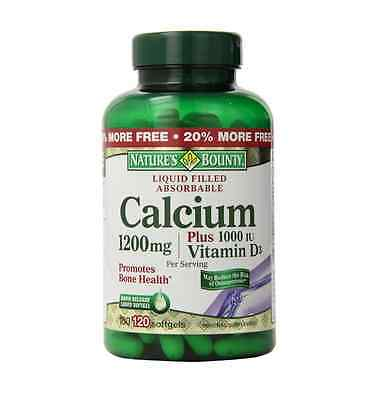 Nature's Bounty Calcium 1200 mg Per Serving Plus Vitamin D Softgels 120 ea