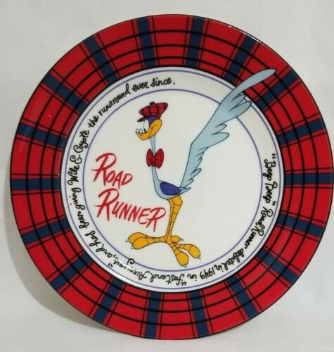 Road Runner Collectable Plate by Warner Bros Studio Store 1992