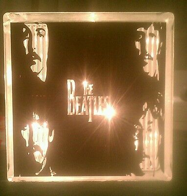 Beatles Glass Block Light~ Home (Glass Block Light)