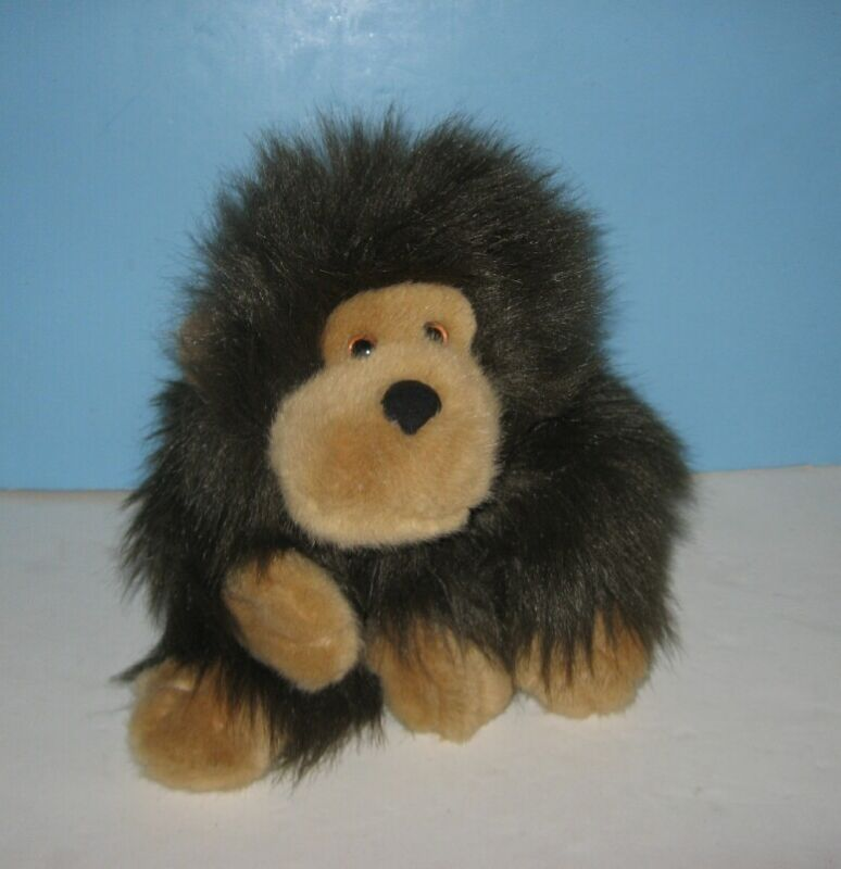 "1990 Dakin Fluffy Floppy 12"" Gorilla Stuffed Plush Animal"