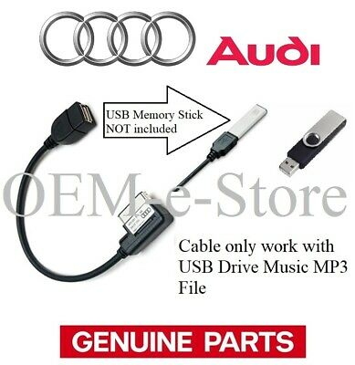 Genuine Audi AMI Music Interface USB Cable *See Chart for Compatible vehicles ✔