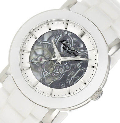 PRE-OWNED $250 Kenneth Cole New York Womens Ceramic Watch KC4726 MISSING CROWN  ()