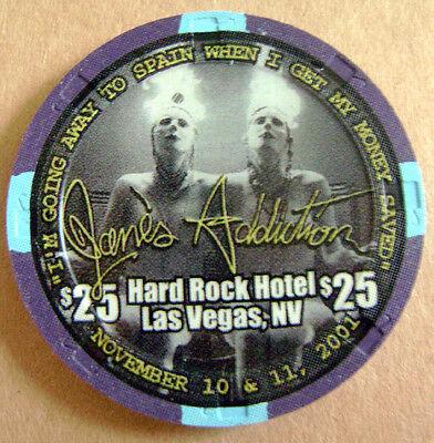 Hard Rock Hotel Casino Las Vegas $25 Jane's Addiction Casino Chip