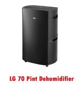 70 Pint LG PuriCare Dehumidifier UD701KOG3 Low Temp 42° Energy Star, 2000 sq ft