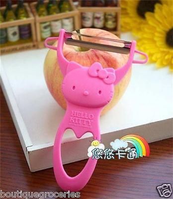 New Lovely Pink Cartoon Hello Kitty Fruit Paring Knife KT Kitchen Ware