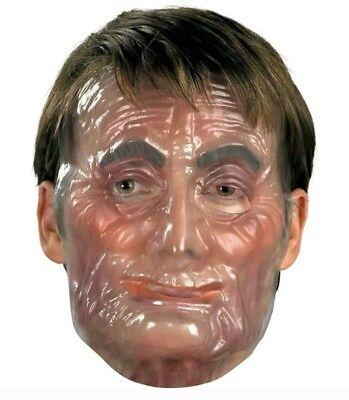 Creepy Clear Mask (Creepy Transparent Old Male Man Plastic Adult Clear Mask like the PURGE)