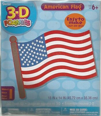 3-D Foamies American Flag Kit 18 x 14 inch   B12 4th of July Kids Crafts