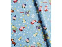 Peppa pig Christmas Wrapping Paper 12M