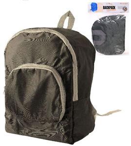 Compact Fold-Away Backpack Rucksack Daypack - Travel Bag Camping - Festival Case