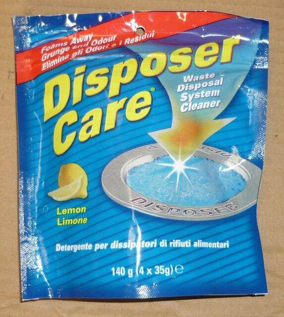disposer care waste disposal garbage disposal cleaner lemon smell odour 4 x 35g - Garbage Disposal Cleaner