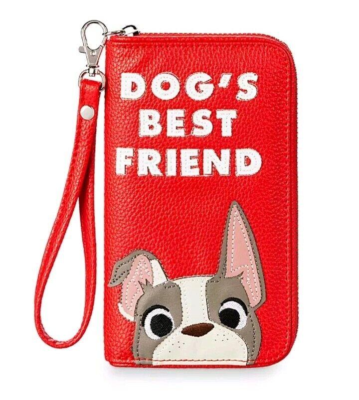 Disney Store Wallet Purse Bag Wristlet Dogs Dug Lady Percy O