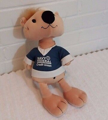 Navy Federal Credit Union Stuffed Animal Plush Sea Otter Sailor             A12