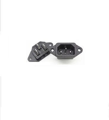 15A 125V w// 2 Mounting Screws Black. Receptacle 1 UL Socket-Outlet by Eagle