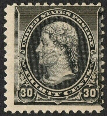 US S# 228 *UNUSED NG H* { 30c BLACK JEFFERSON } AMERICAN BANKNOTE OF 1890 SERIES