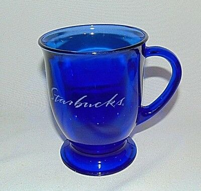 Starbucks Coffee Cup Anchor Hocking Blue - Blue Glass Cups