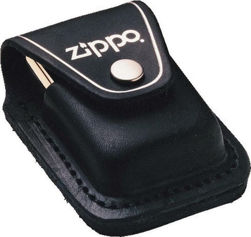 Zippo Lighter Pouch Black Leather made in USA 17050
