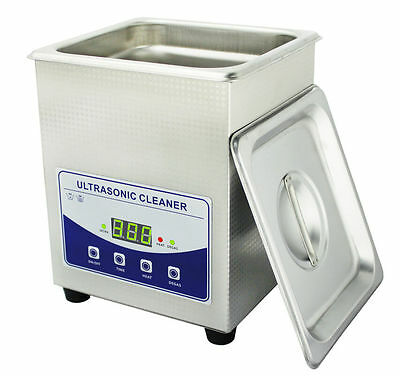 2l Digital Ultrasonic Cleaner Dental Lab Jewelry W Heater And Degassing 220v