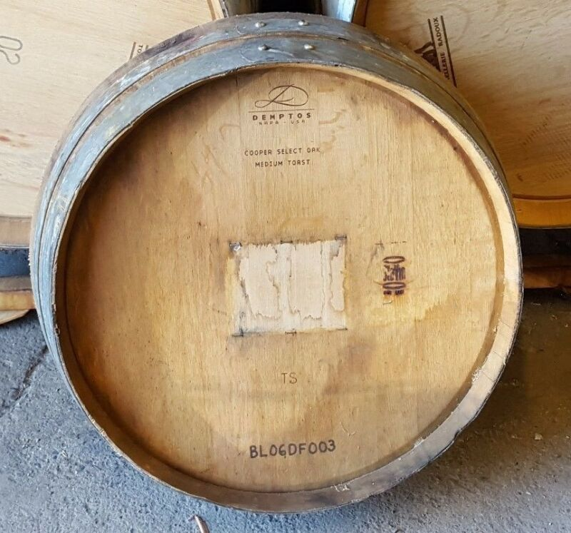 1/4 Wine Barrel Heads Solid Oak Napa Valley WInery With Logo