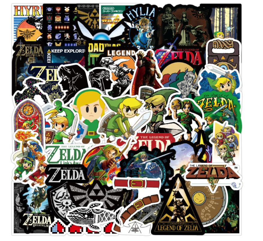 Home Decoration - Legend of Zelda Stickers 50 Decal Lot game Sticker set new