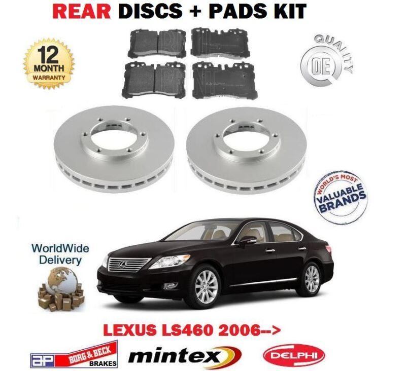FOR LEXUS LS460 1UR-FSE 32v 2006-> NEW REAR BRAKE DISCS SET + DISC PADS KIT