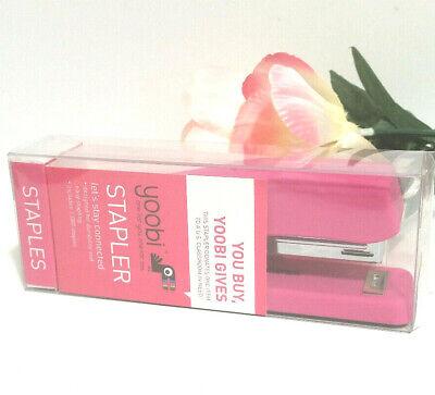 New In Box Yoobi Stapler Pink Includes 1000 Staples
