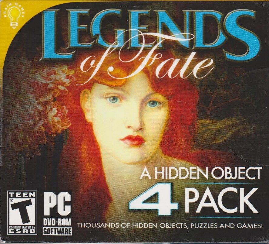 Computer Games - Legends Of Fate 4 Pack PC Games Windows 10 8 7 XP Computer Pack hidden object