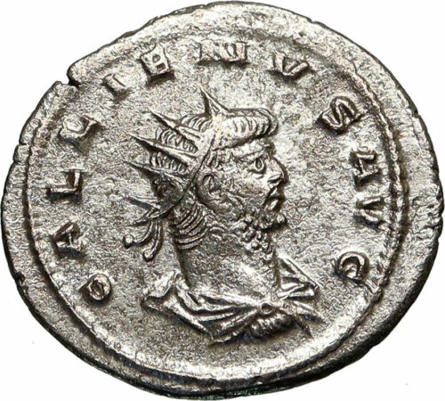 GALLIENUS Authentic Ancient 263AD Antioch Genuine Roman Coin AEQUITAS i84919