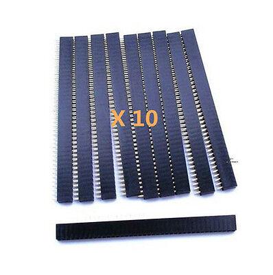 10pcs 40pin 2.54mm Single Row Straight Female Pin Header Strip For Ardunio Pbc
