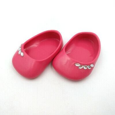Red Ballet Flats For Girls (Fit For 18'' American Girl Rose Red Doll Clothes Flat Ballet Shoes)