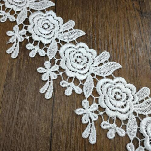 DIY 4Yards embroidery Rose lace Wedding dress Sewing decoration Home Curtain