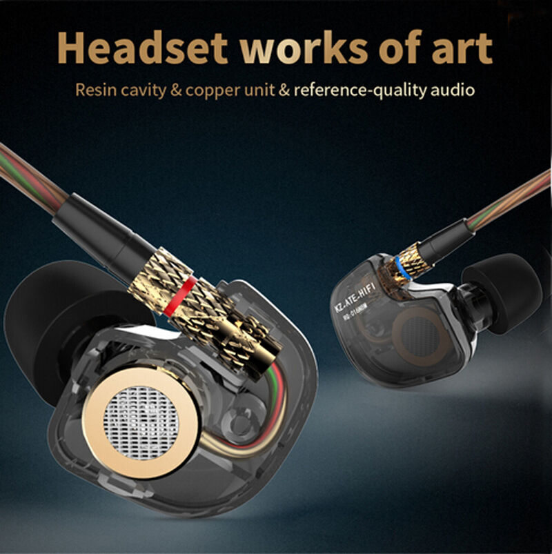 KZ ATE Copper Driver HIFI Headset Metal Sport Headphones Bas