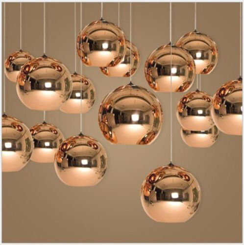 Glass Ceiling Lamp LED Pendant Light Fixtures Chandelier Din