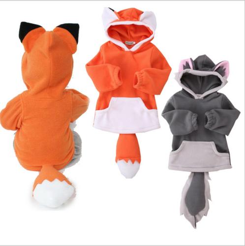 Baby Kleinkinder Fuchs Tier Kostüm Niedlich Kapuze Mantel Jacket Party Kleidung