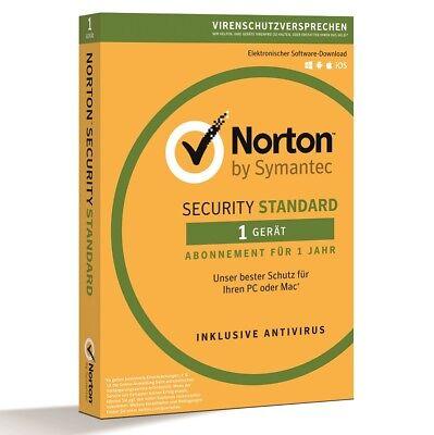 Norton™ Sicherheitssoftware   Optimiertes Antivirus-Programm 1 Pc 2018 /
