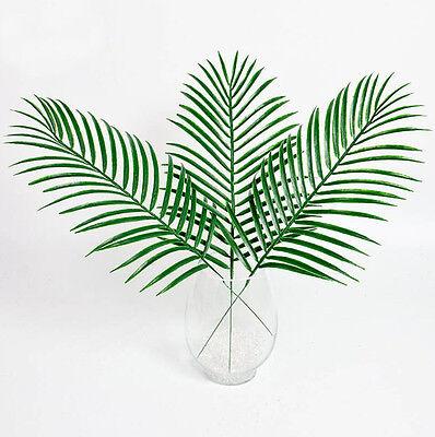 Gefälschte Palme (Grüne Palmblätter Kunststoff Seide gefälschte Pflanze künstlich Blatt Home Decor)