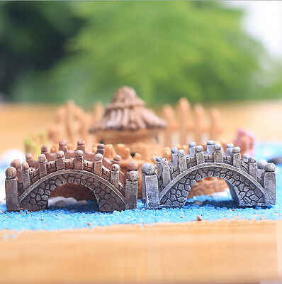 Micro Bridge Landscape Miniature Fairy Garden Terrarium Doll House Home Decor