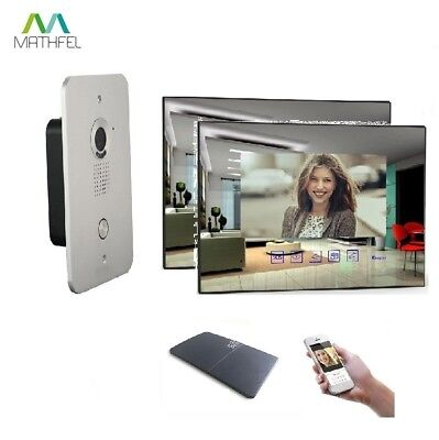 2 Draht Video Türsprechanlage Gegensprechanlage 2x 7 Zoll Monitor Klingel Farb