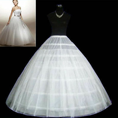New 3 Hoop 2 Layer wedding Dress petticoat Crinoline Underskirt bridal Gown