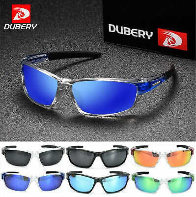 DUBERY Men Sport Polarized Sunglasses Driving Outdoor Riding Fishing Glasses NEW