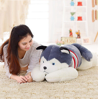 Huge Great Big Soft Stuffed Plush Dolls Toys Siberian Husky Dog Bear Gift 100Cm