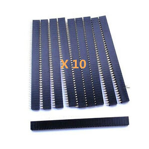 10-New-40Pin-2-54mm-Single-Row-Straight-Female-Pin-Header-Strip-PBC-Ardunio