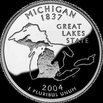 2004-S 25C Michigan Silver DC (Proof) 50 States Quarter