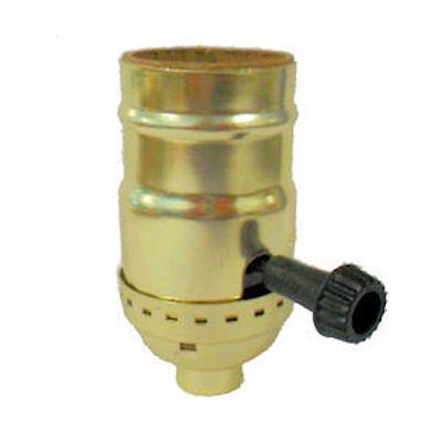 "3-terminal, 2 circuit brass-plated ""nite-lite"" lamp socket, shell, cap  TR-44"